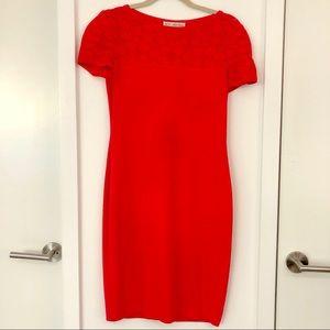 ST JOHN COLLECTION Vintage Coral Pink Dress size 2